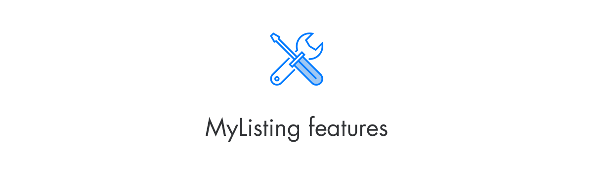MyListing Features