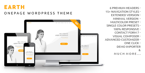 Earth - Onepage WordPress Theme