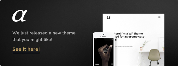 New: Alpha WordPress Theme