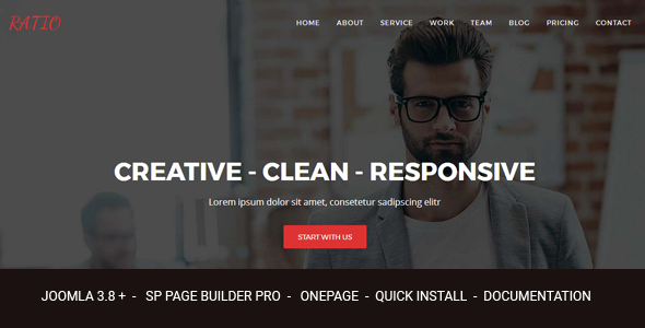 Ratio - Material Design Agency Responsive Joomla Theme With Page Builder - Joomla CMS Themes