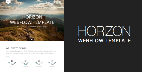 wordpress theme with multiple page templates - webflow template horizon one page and multipage webflow