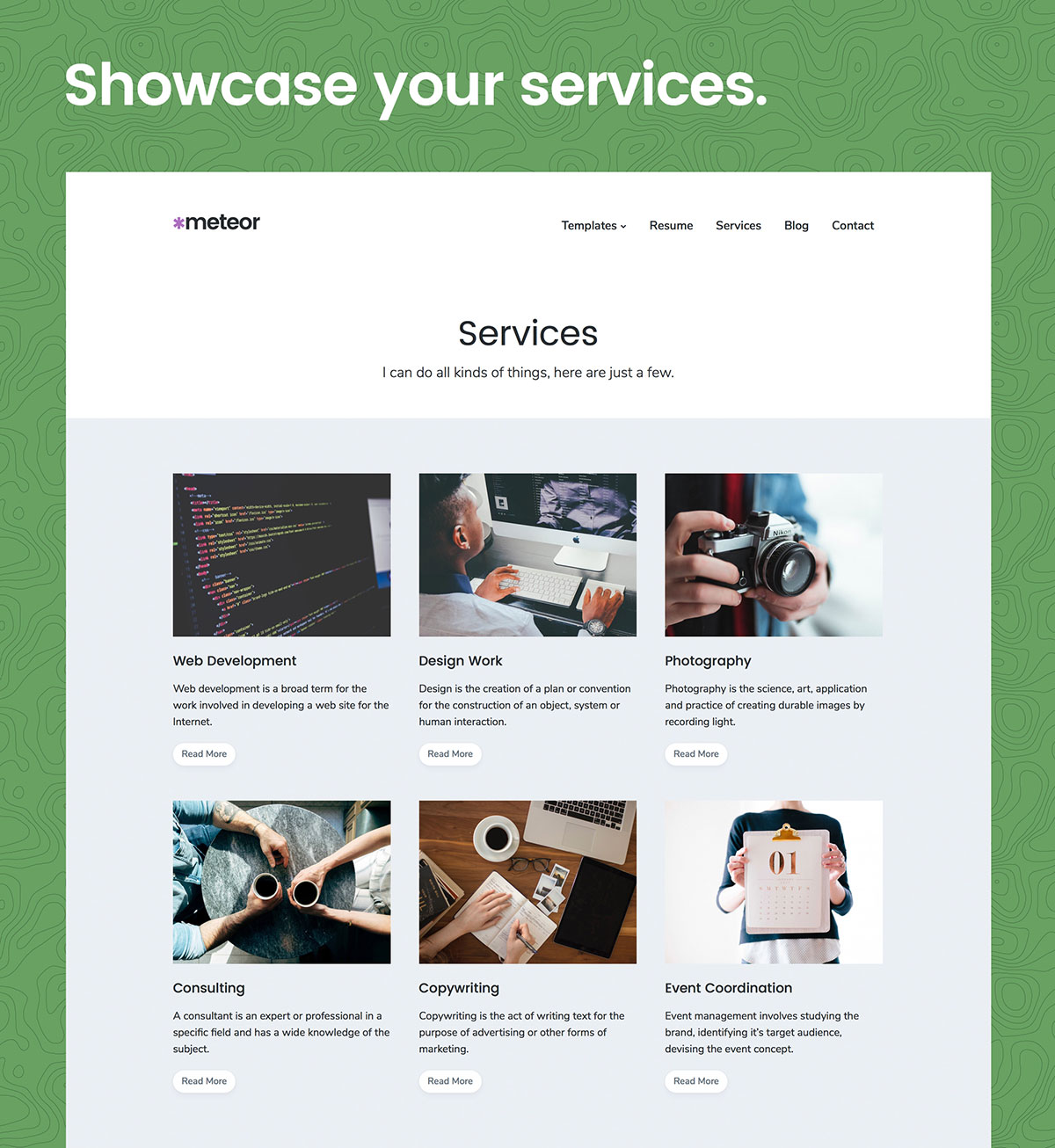 Meteor WordPress Theme Services