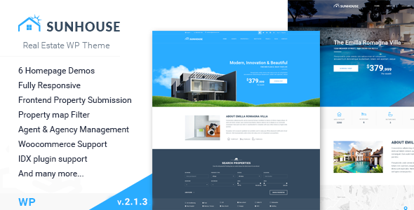 Sun House - Real Estate WP | Responsive Real Estate WordPress Theme