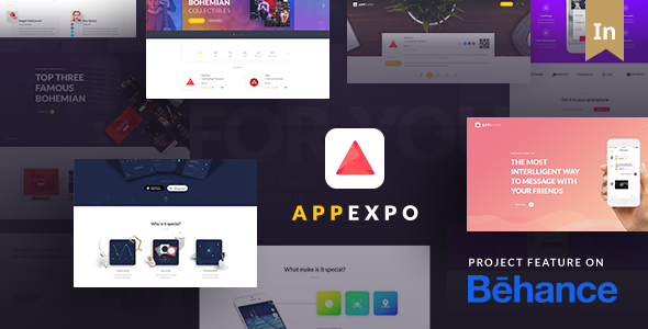 App Landing Page WordPress Theme (App Showcase, App Store) - App Expo