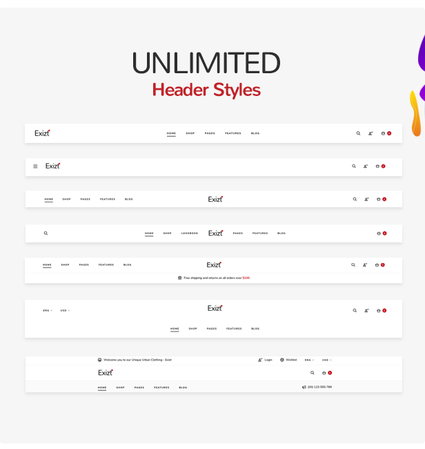 Exizt WordPress Theme