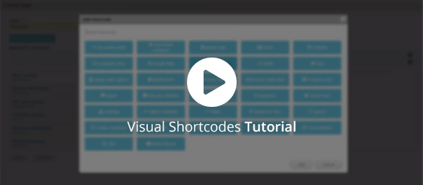 Video about Visual Shortcodes