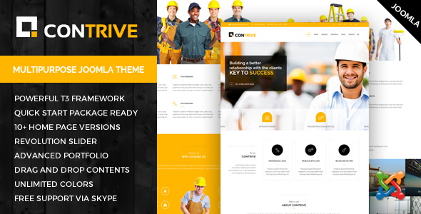 Contrive - Building & Construction Business Joomla Theme - Business Corporate