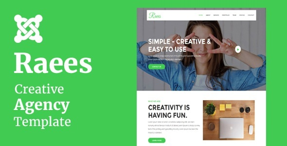 Raees - Creative Agency Joomla Theme With Page Builder - Technology Joomla