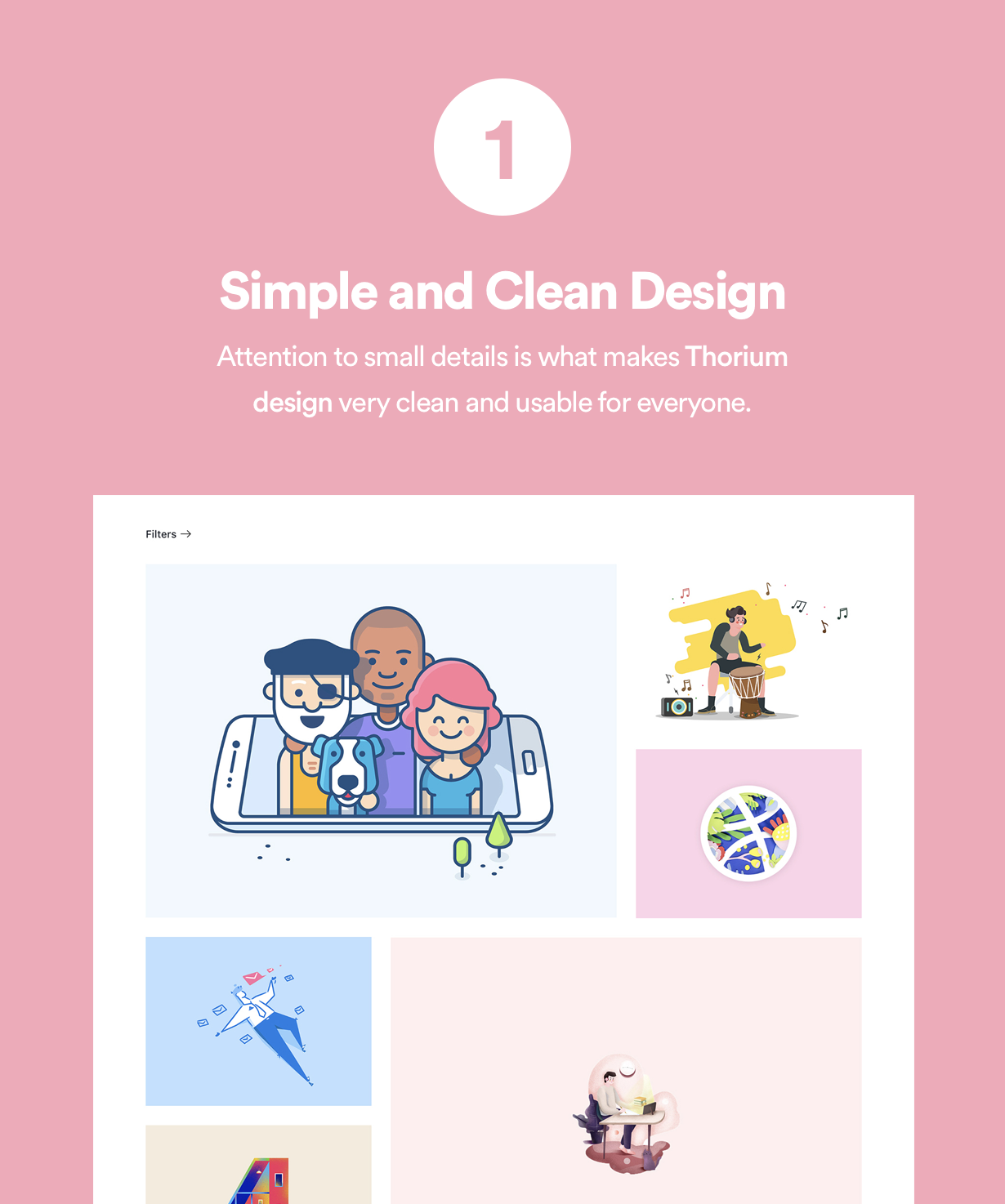 Simple and Clean design