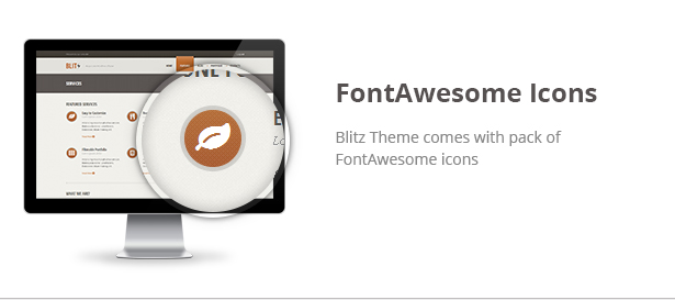 Blitz Theme Features: FontAwesome Icons