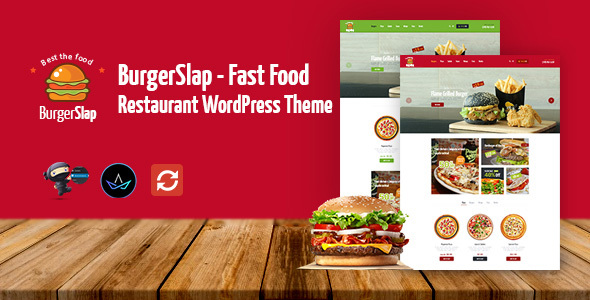 Creative Theme Burger Slap Fast Food Restaurant