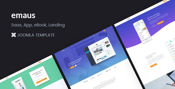 Emaus | SaaS, WebApp, Ebook Responsive Joomla Landing Page Template - Software Technology