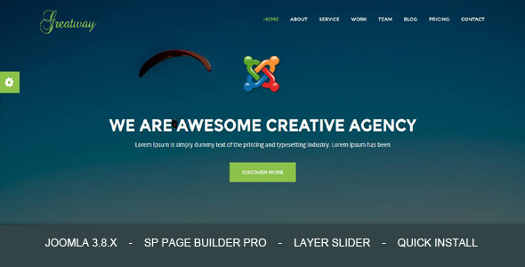 Greatway - Material Design Agency Joomla Theme With Page Builder - Joomla CMS Themes