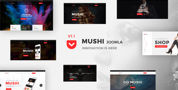 Mushi - The Multi-Purpose Responsive Joomla Theme - Corporate Joomla