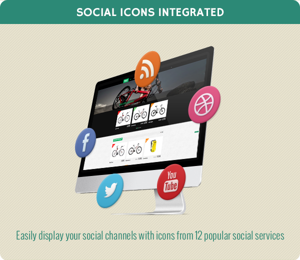 Social icons integrated
