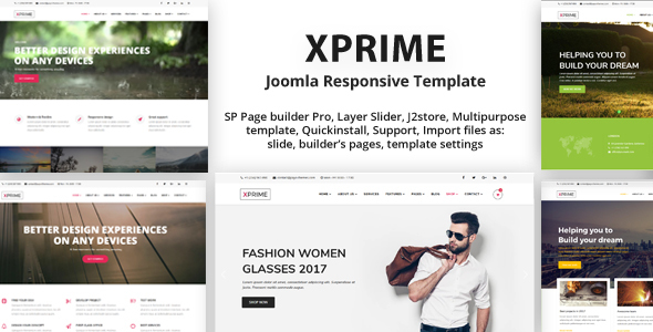 XPRIME Creative Joomla Multipurpose Template