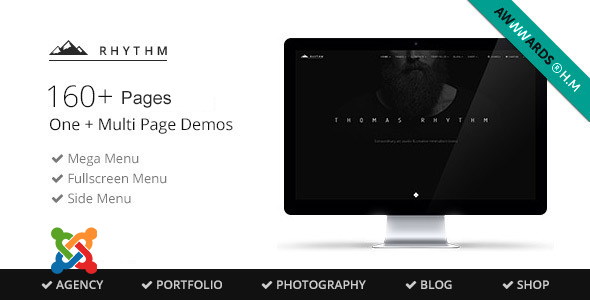 Rhythm - Multipurpose One/Multi Page Joomla Template With Page Builder - Joomla CMS Themes