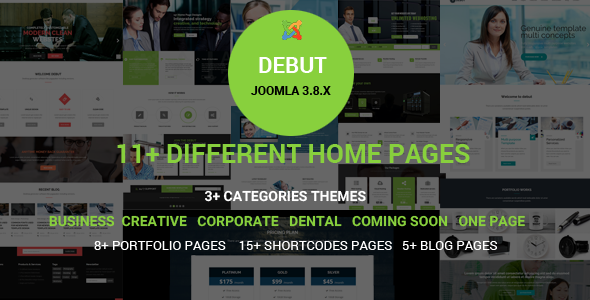 Debut - The Multi-Purpose Responsive Joomla Theme - Joomla CMS Themes