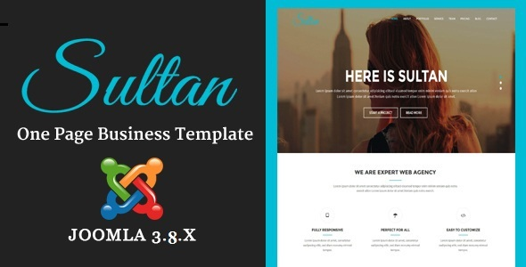 Sultan - One Page Business Multi-Purpose Joomla Theme With Page Builder - Corporate Joomla