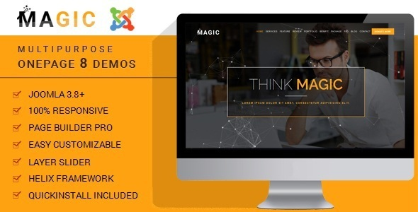 Magic - Multipurpose Onepage Joomla Theme With Page Builder - Business Corporate