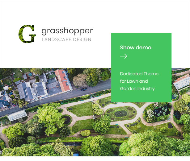 Business Theme Grasshopper Landscape Design And Gardening