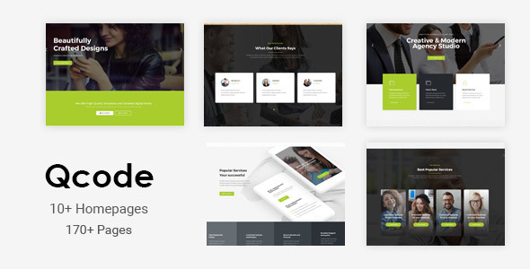 Qcode - Responsive MultiPurpose Joomla Business Theme With Page Builder - Business Corporate