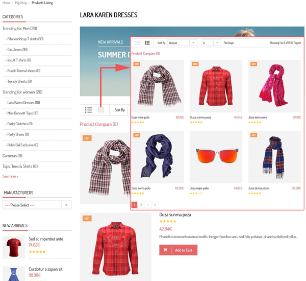 SJ Style - Grid and list view