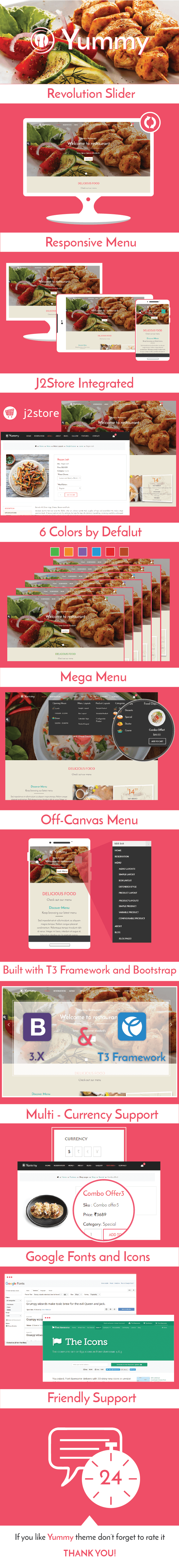 Yummy Joomla Restaurant template
