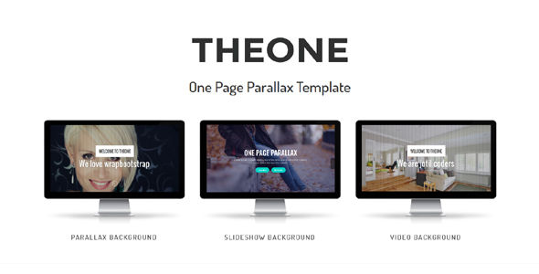 Theone - One Page Parallax Joomla Theme With Page Builder - Corporate Joomla