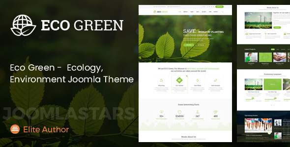 Eco Green - Joomla Theme for Environment, Ecology and Renewable Energy Company - Environmental Nonprofit
