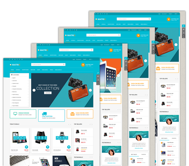 Boxed and Wide layout