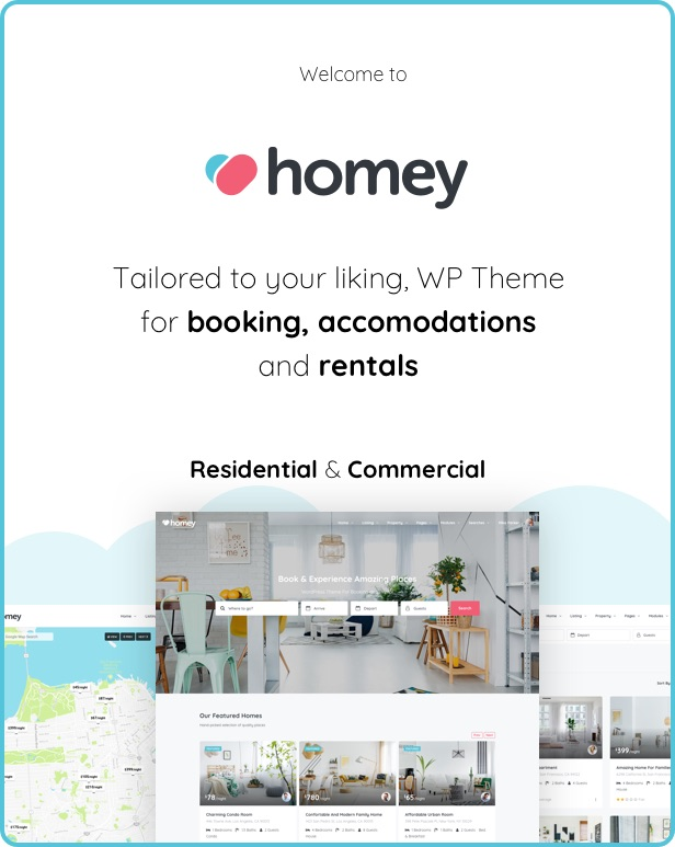 Homey - Booking and Rentals WordPress Theme - 4