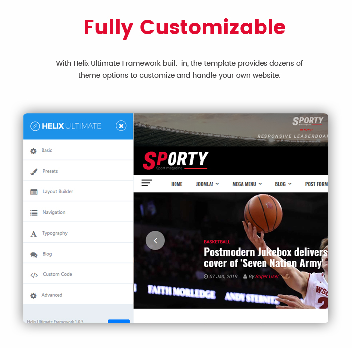 Sj Sporty - Flexible Sports News Joomla Template - 5