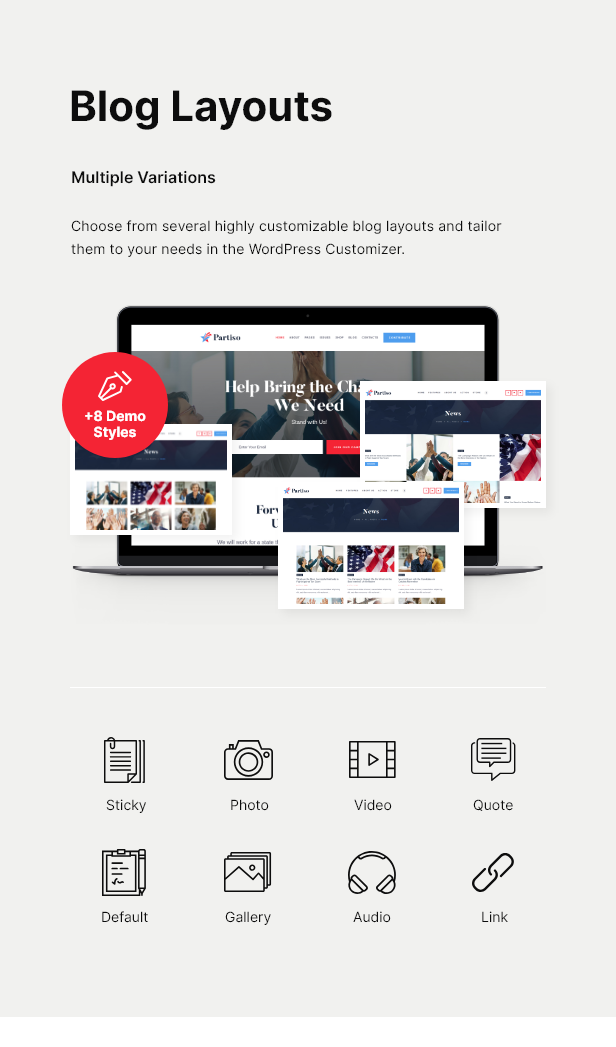 Partiso | Political WordPress Theme for Party & Candidate - 5