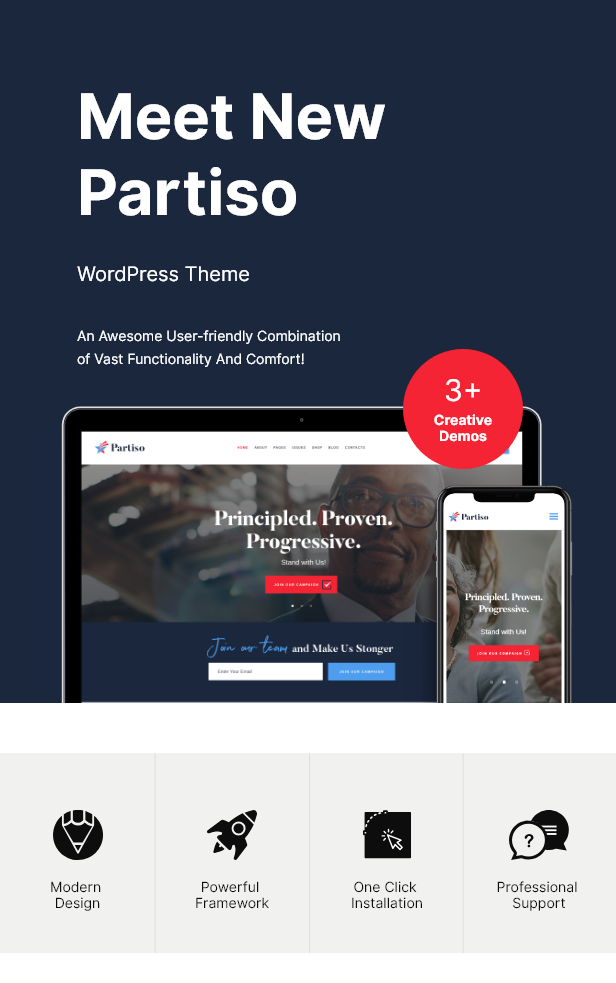 Partiso | Political WordPress Theme for Party & Candidate - 2