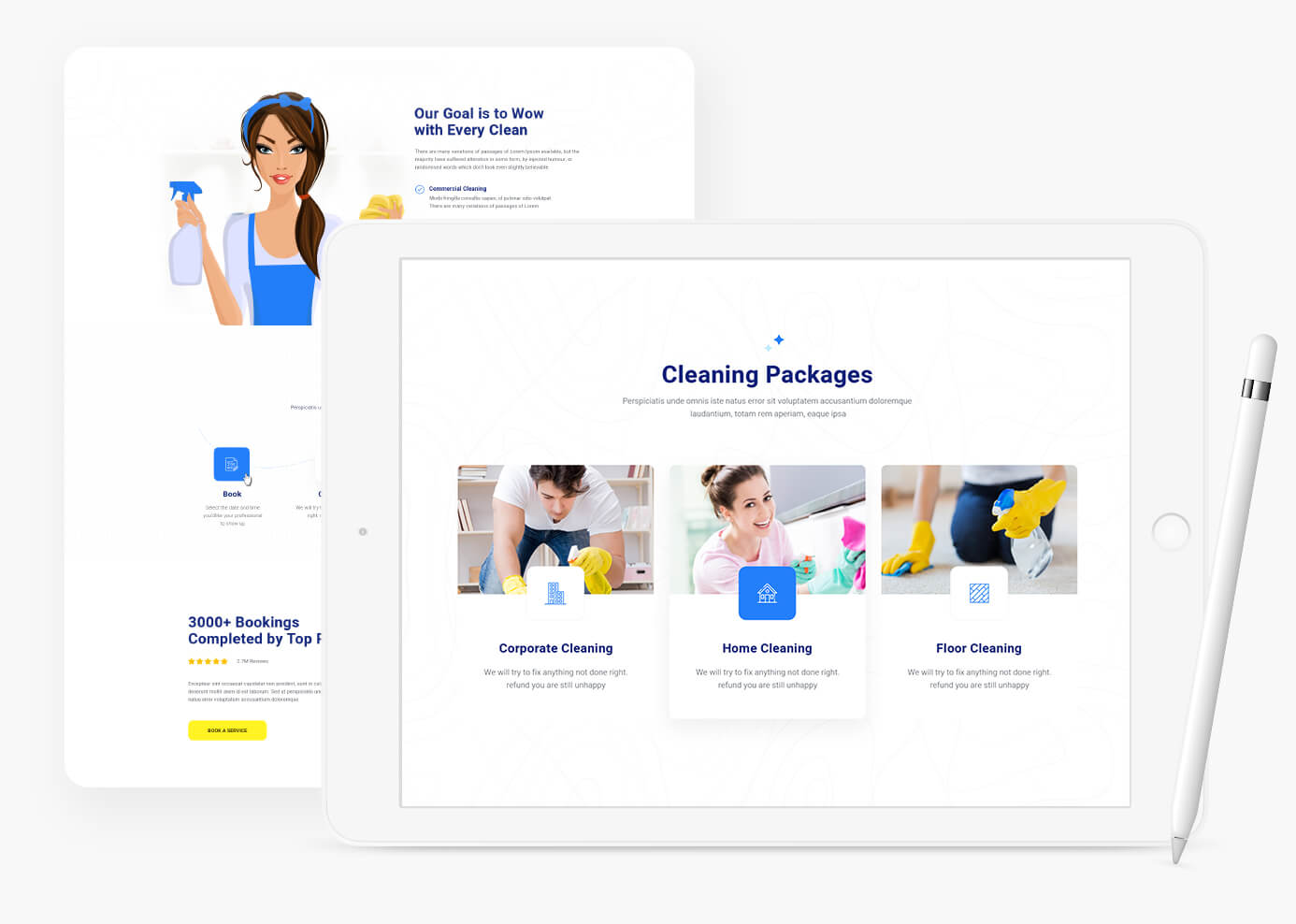JD CleanX - Best Cleaning Company Joomla template - 3
