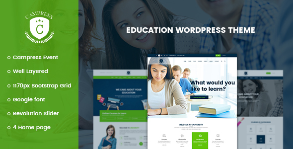 Campress v1.6 - Responsive Education, Courses and Events