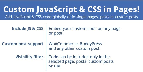 Custom JavaScript & CSS in Pages v1.9