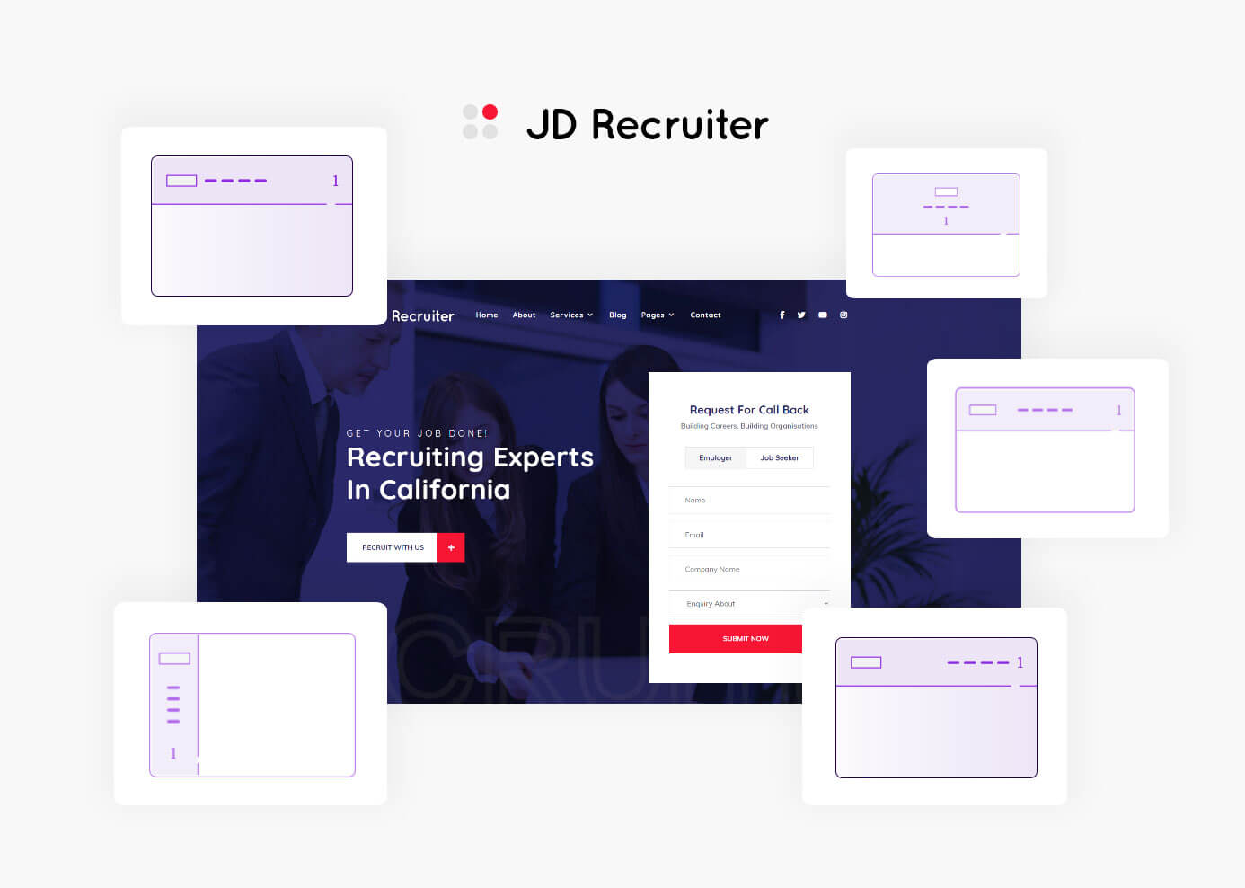 JD Recruiter - HR Consulting & Staffing Agency Joomla Template - 4