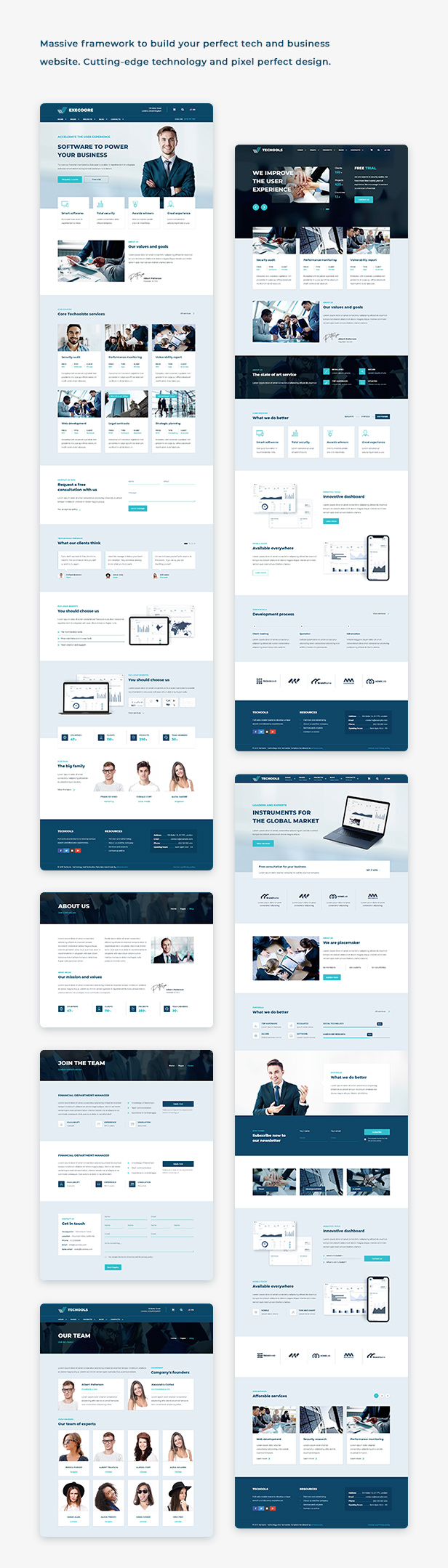 Execoore - Technology And Fintech Template - 2