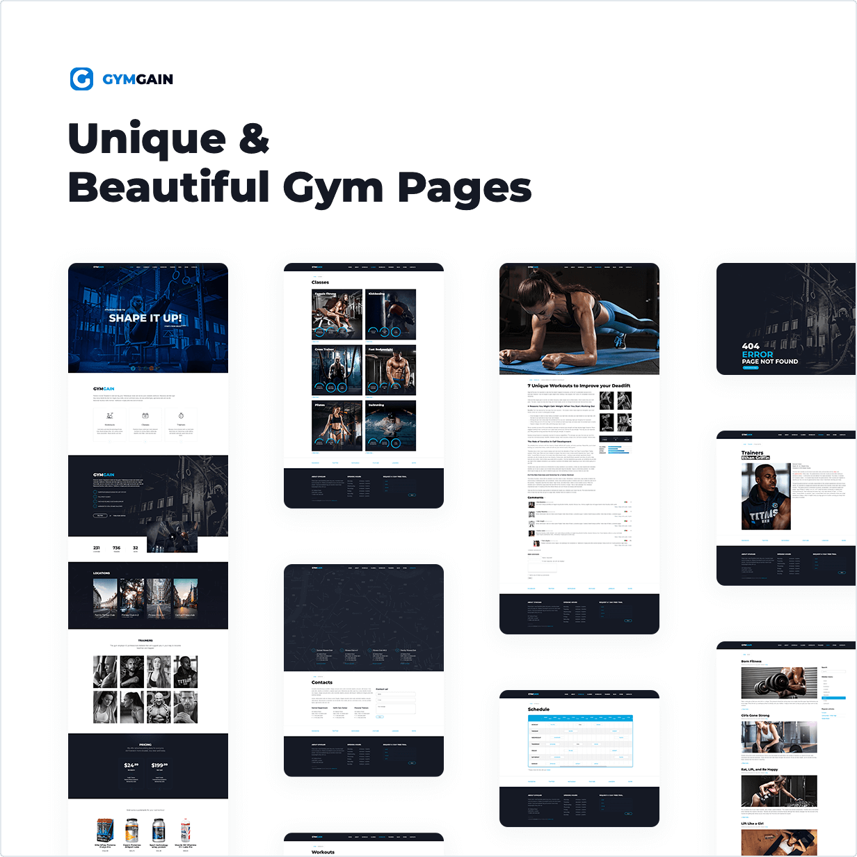 Sports Joomla Template GymGain - 1