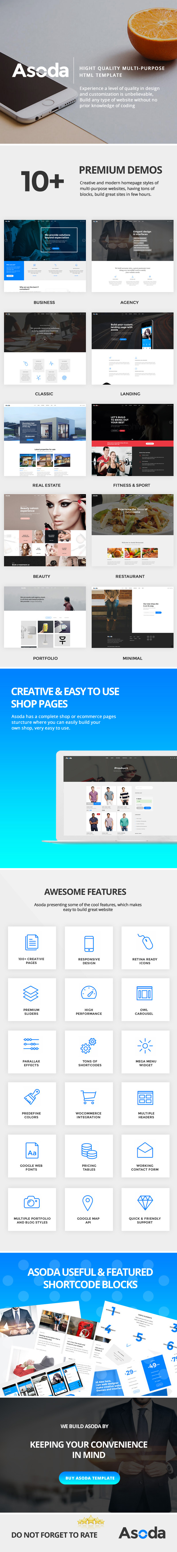 Asoda - Multi-Purpose Responsive Website Template - 2