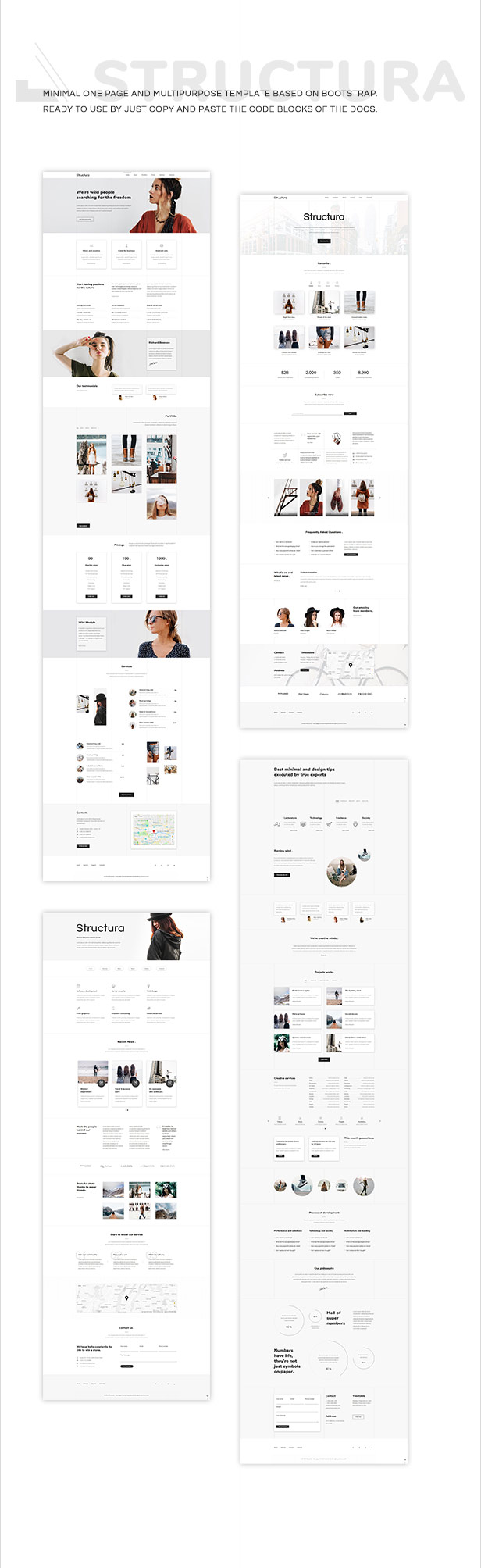 Structura - One Page Multipurpose Minimal Template - 2