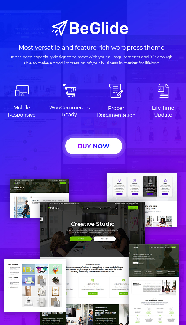 BeGlide: Corporate Business Consultant Agency WordPress Theme - 8