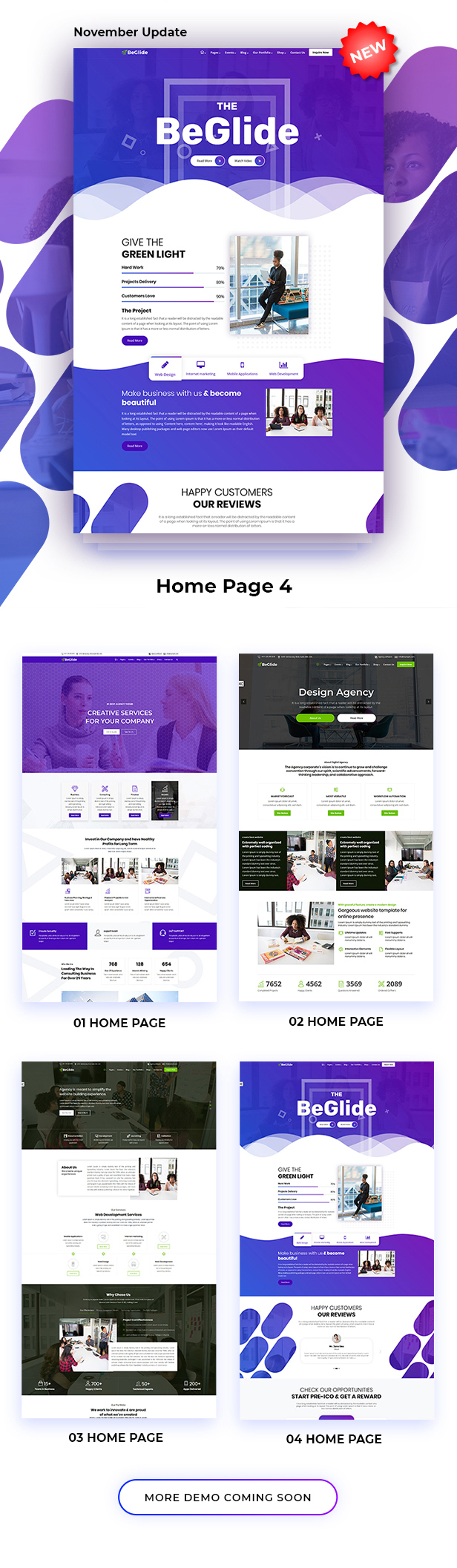 BeGlide: Corporate Business Consultant Agency WordPress Theme - 9