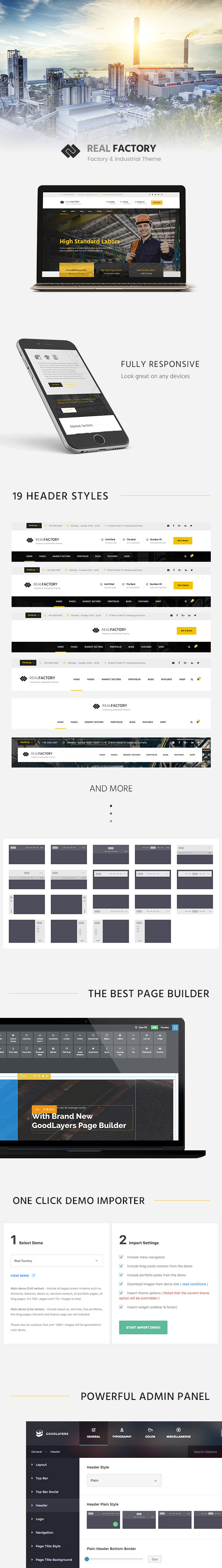 Construction WordPress Theme For Construction & Industrial Company | Real Factory - 1