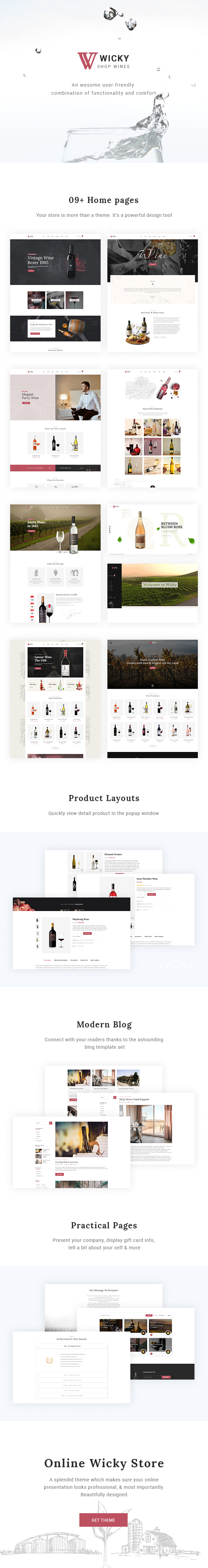 Wicky – Wine Shop WooCommerce Theme - 1