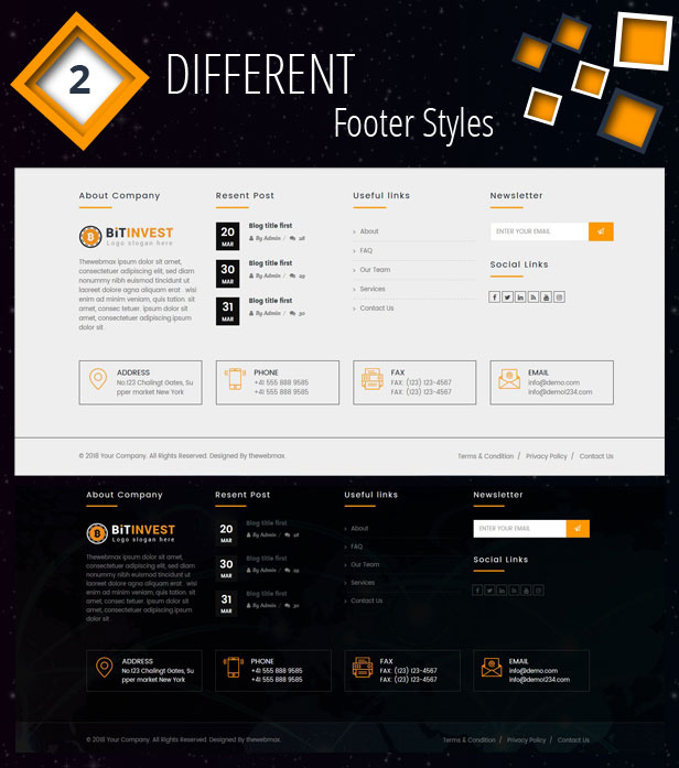 Bitcoin Crypto Currency Template - 4