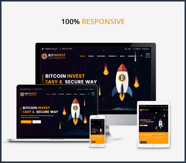 Bitcoin Crypto Currency Template - 7