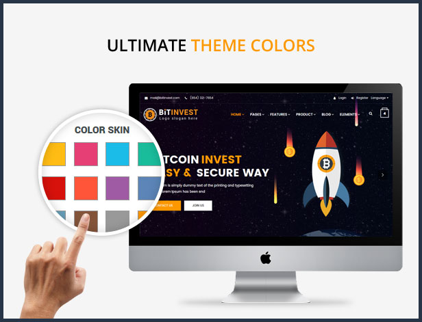 Bitcoin Crypto Currency Template - 8
